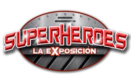 logo superheroes la exposicion