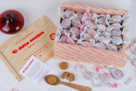 caja madera mantecados dulce nombre