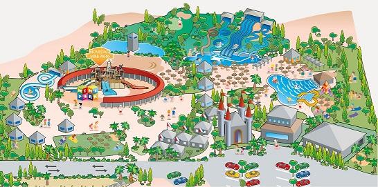 mapa aquopolis cartaya