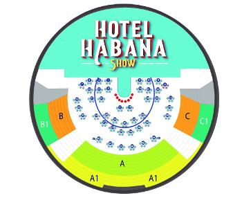 plano hotel habana show