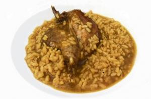 Menú de arroz para dos