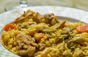 Menú de arroz para 2