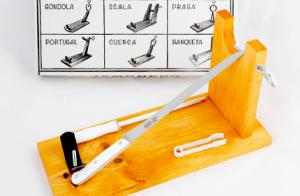 Pack jamonero + cuchillo + chaira
